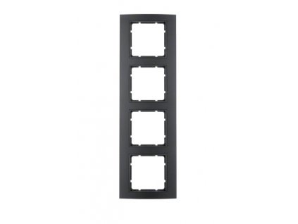 Rámeček 4-násobný Berker 10143005 - černý antracit
