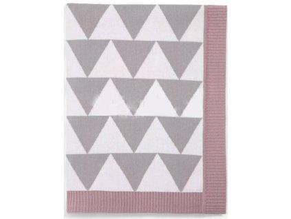 Pletená deka geometrický vzor