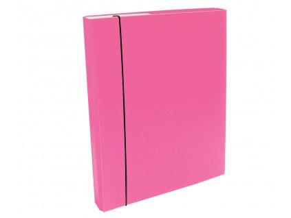 Desky s boxem A4 CAESAR OFFICE IMPERATOR 3 cm - růžová