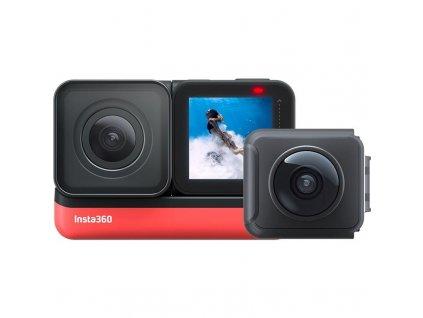 Outdoorová kamera Insta360 ONE R (Twin Edition) černá / červená / ROZBALENO