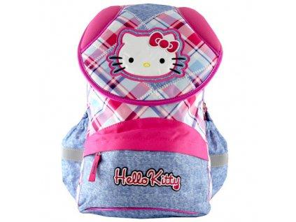 Batoh školní HELLO KITTY růžovo-modré kostky