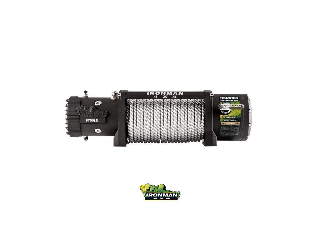 Monster winch WWW9500LB, 12V - oceľové lano