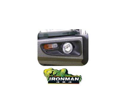 Protector Bull Bar - Predný pevnostný nárazník šedý/nerezový Nissan Patrol Y60/GQ (s lemami blatníkov a vinutými pružinami)