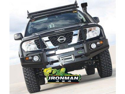 De Luxe Commercial - Predný pevnostný nárazník čierny Nissan Navara D40 (nepasuje na 2010+ STX) / R51 Pathfinder(do 2010)