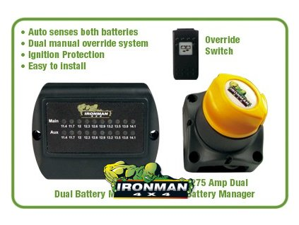 Dual Battery Kit - 275 amp - motorizovaný (vrátane monitoru a nastav. tlačidla)