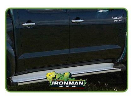 Hliníkové bočné stupačky pre Isuzu D-Max 2002+ / Holden Rodeo RA, RA7 / Colorado