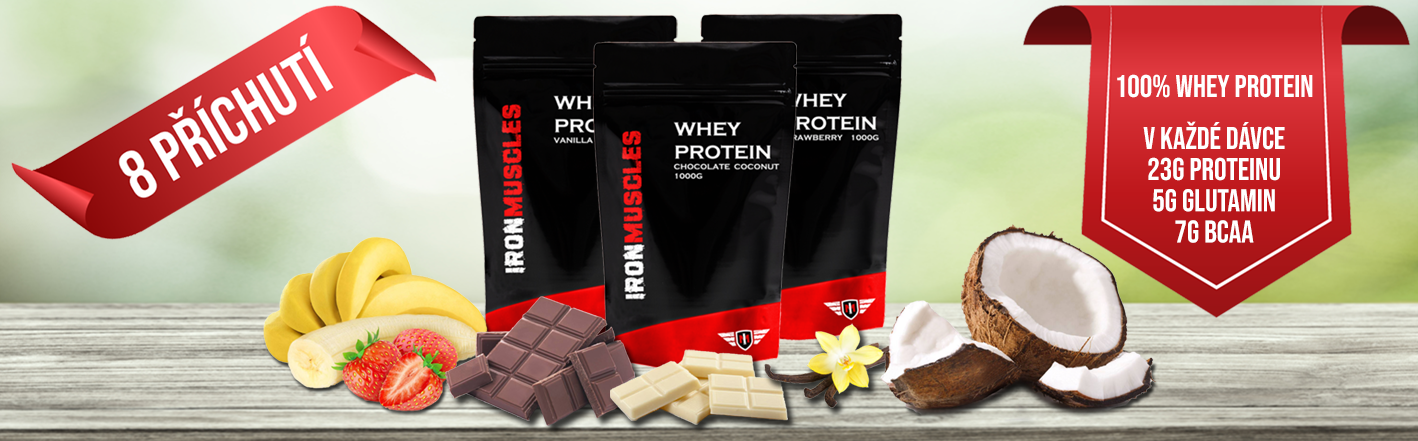 8 příchutí syrovátkového proteinu