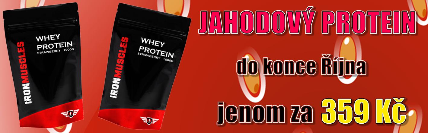 Jahodový Whey Protein - Sleva