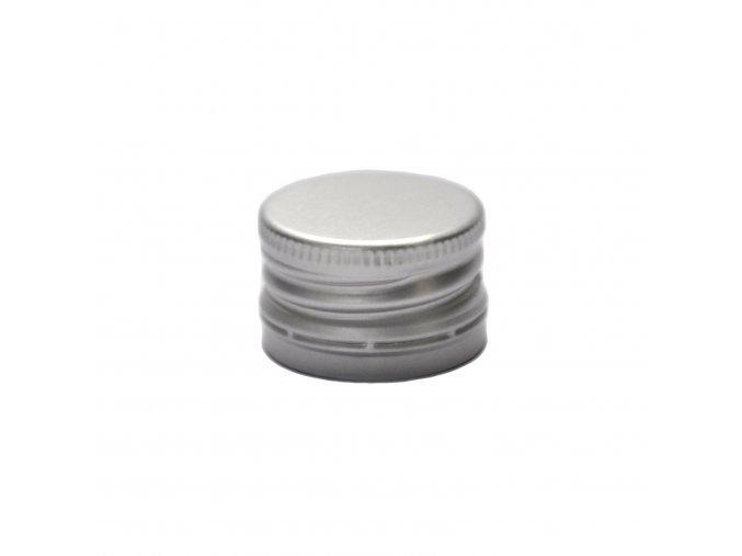 Šroubovací uzávěr na láhve 28 mm stříbrný