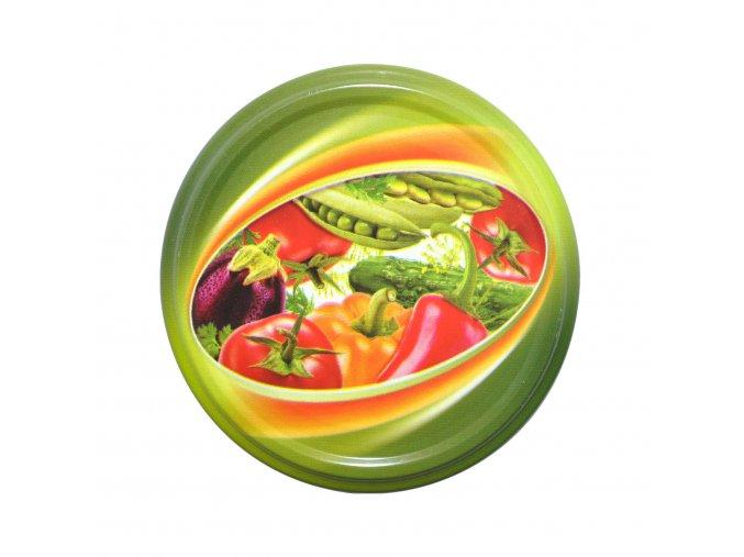 Víčko Twist 82 zelenina v oválu