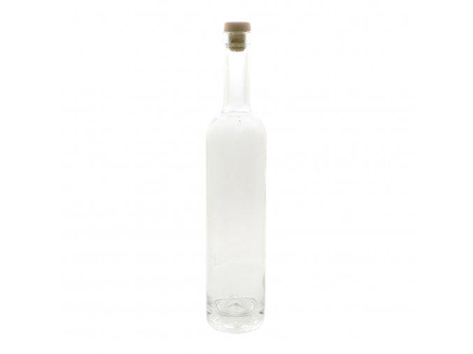 Láhev na destiláty 500 ml s korkem