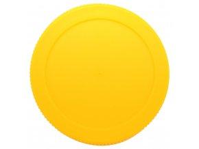 Víčko plastové 82 žluté se závitem