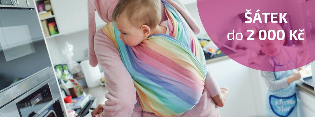 Šátek na nošení dětí do 2 000 kč