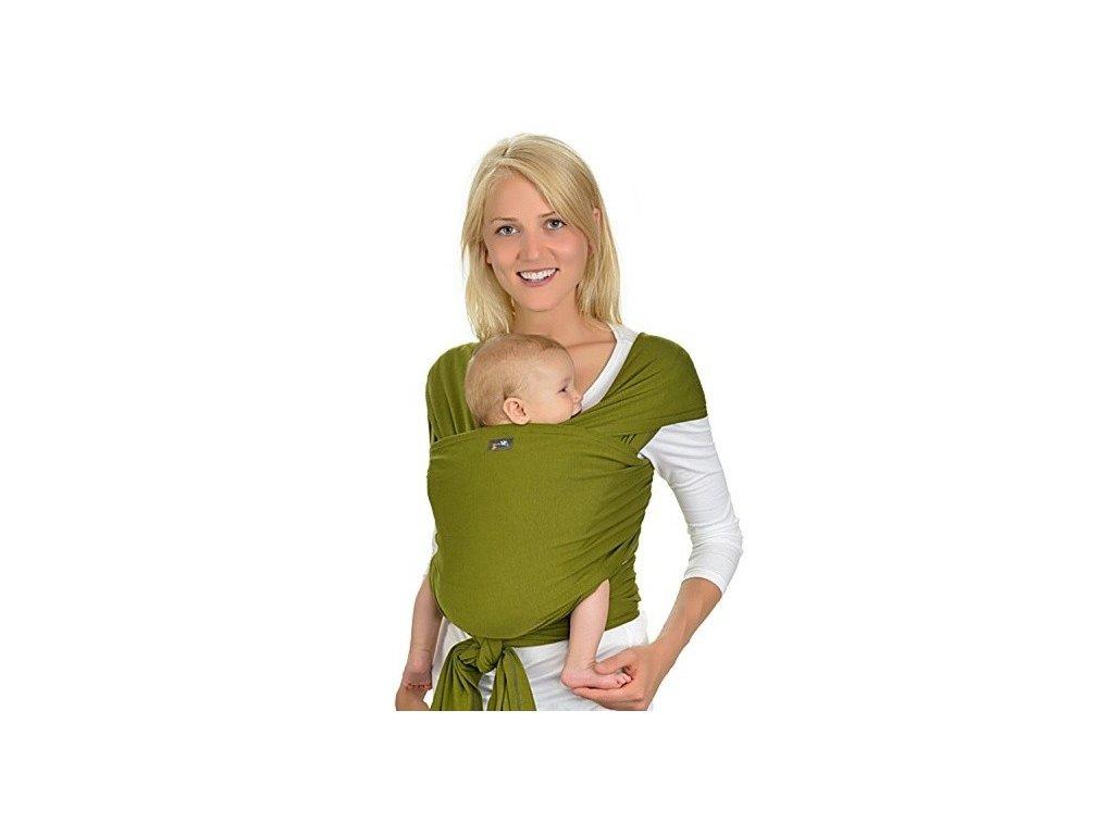 Hoppediz BIO Oliv elastický šátek