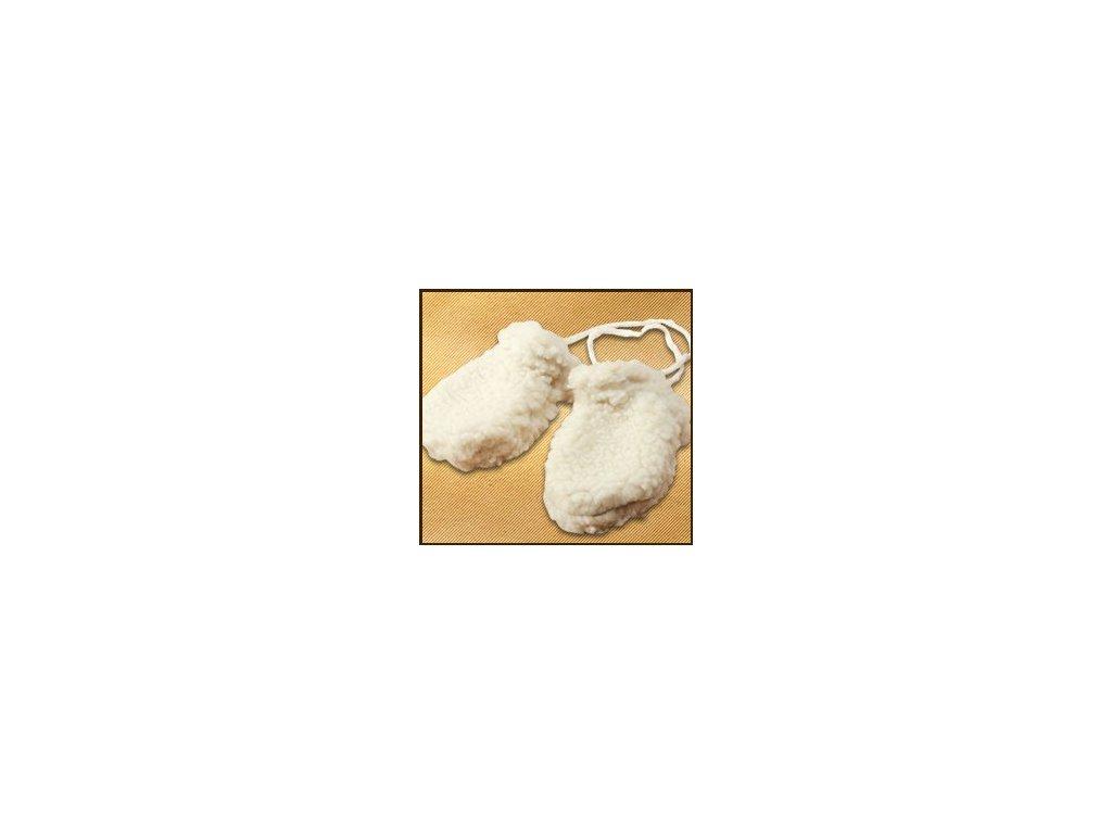 Saling vlněné rukavice světlé