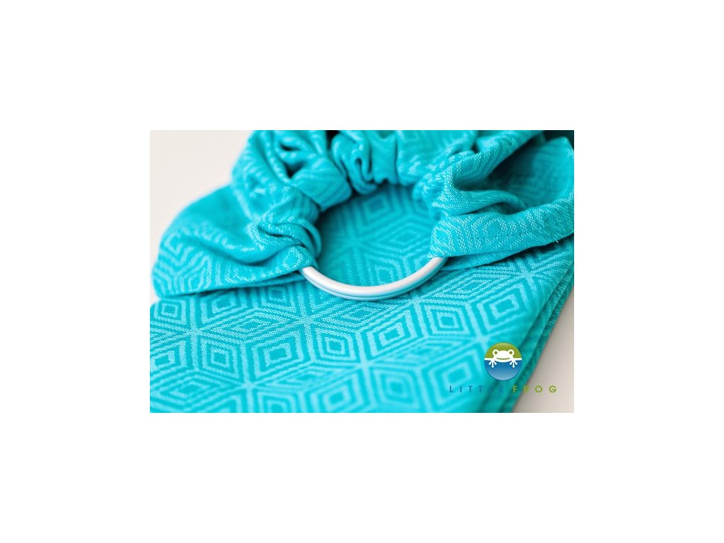 Little Frog Ring Sling Turquoise Cube