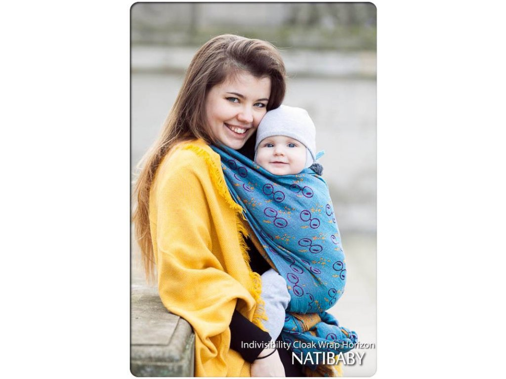 Natibaby Indivisibility Cloak Wrap Horizon 15% bambus
