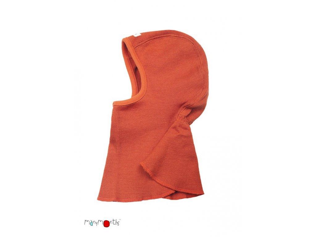 Manymonths sloní čepice merinovlna Oranžová