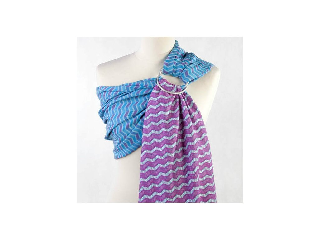 LennyLamb Ring Sling ZigZag Turquoise and Pink
