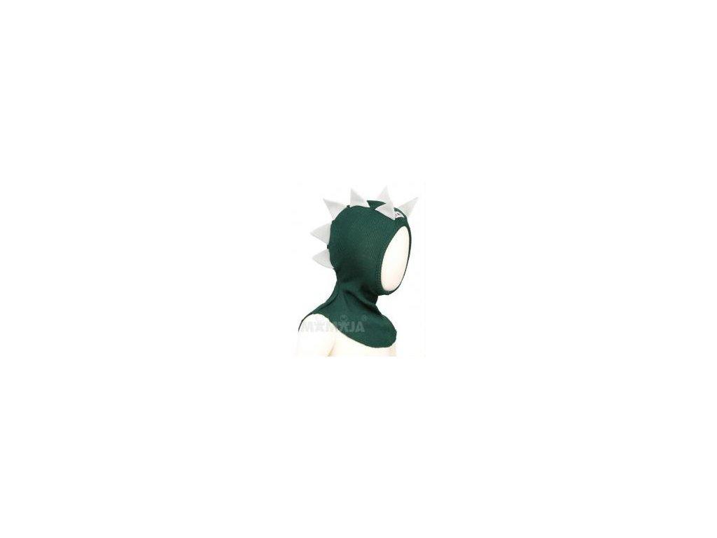 Manymonths sloní čepice merinovlna Mer.16 Dino Sequoia Green