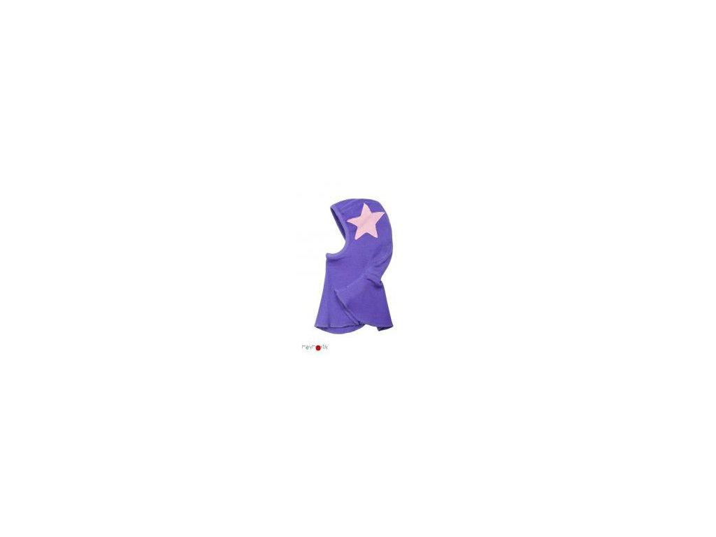 Manymonths sloní čepice merinovlna Star Purple Peace