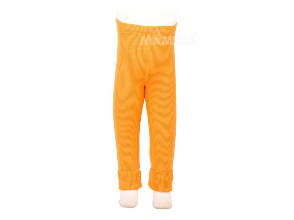 Manymonths merino legíny 16 Saffron Yellow