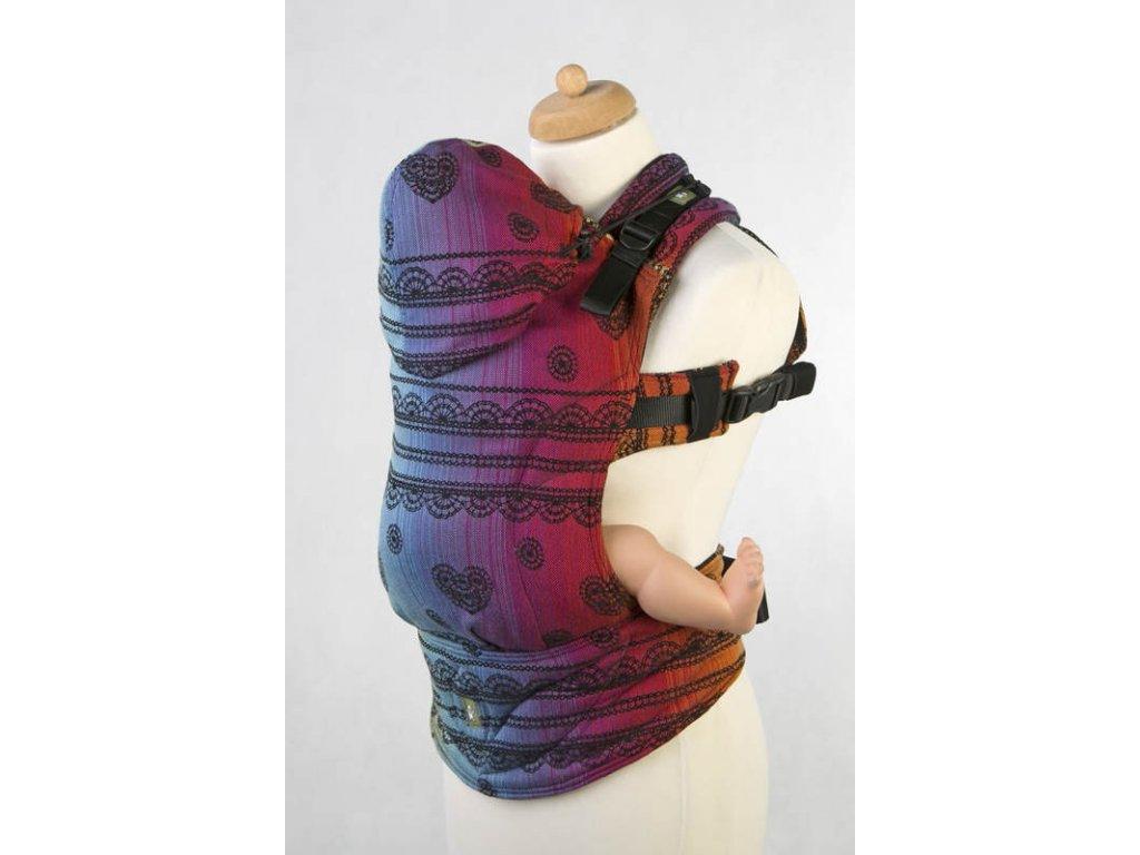 LennyLamb ergonomické nosítko Rainbow Lace Dark