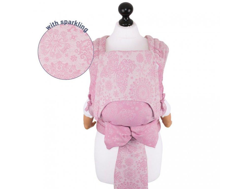 Fidella Mei Tai Babysize Iced Butterfly Sparkling Rose TŘPYTIVÉ NOSÍTKO