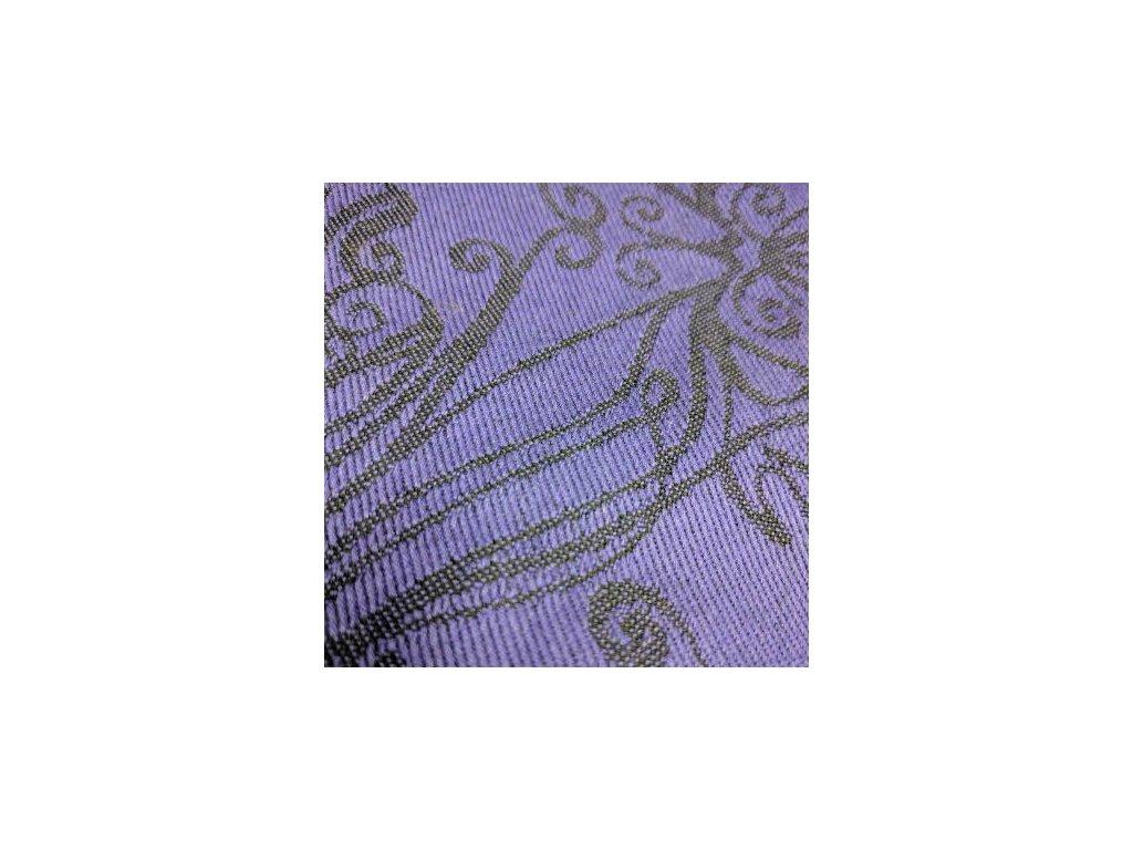 Yaro Ring Sling Elvish Violet Black 40 % vlna