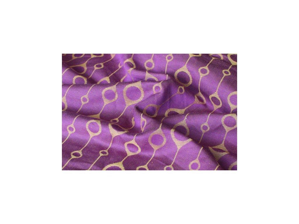 Yaro Loops Purple Yellow 60% tencel 40% len