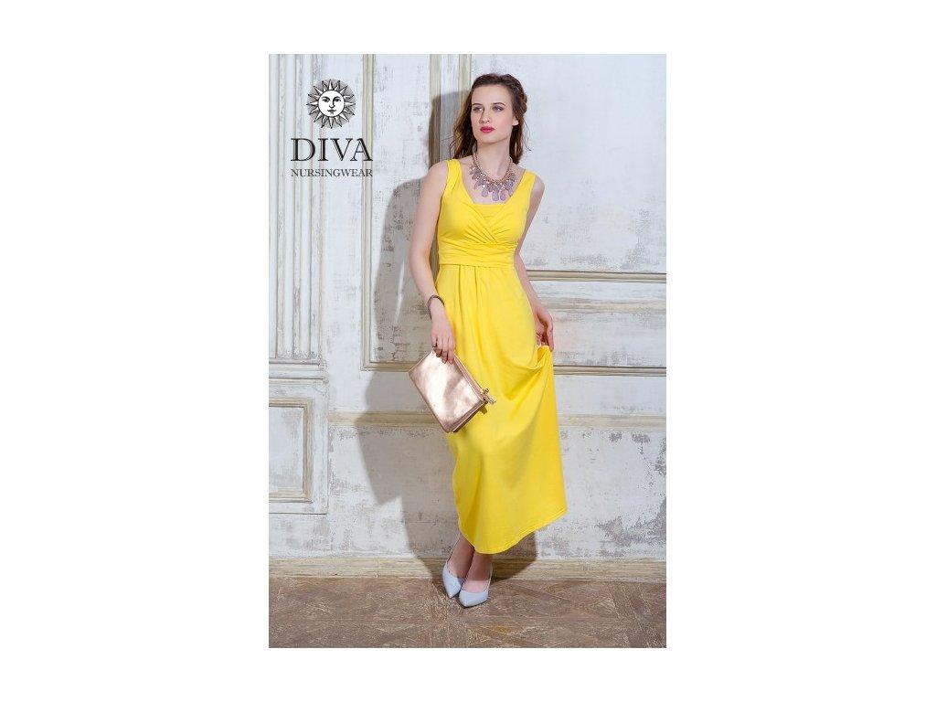 97f24de9910e Diva Milano kojící šaty bez rukávů Alba Maxi Limone - iSatky.cz