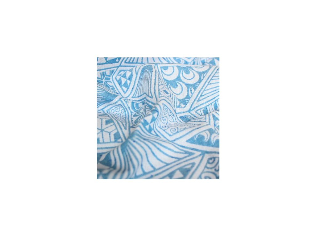 Yaro Geodesic Contra Blue White 20% vlna 10% tussah hedvábí