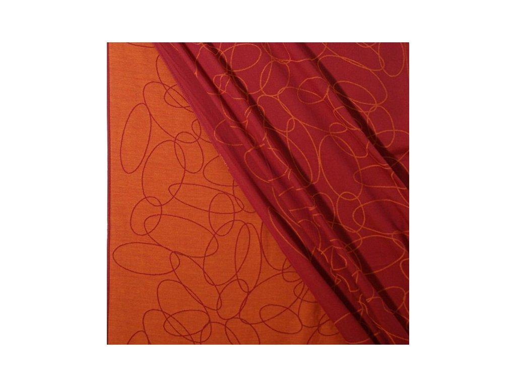 Didymos šátek na panenky Elipsy rubín - mandarinka