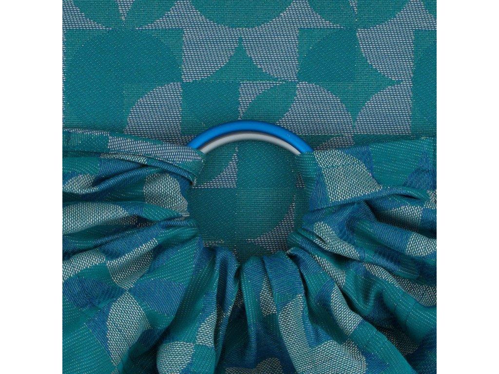 Fidella ring sling Kaleidoscope Ocean Teal