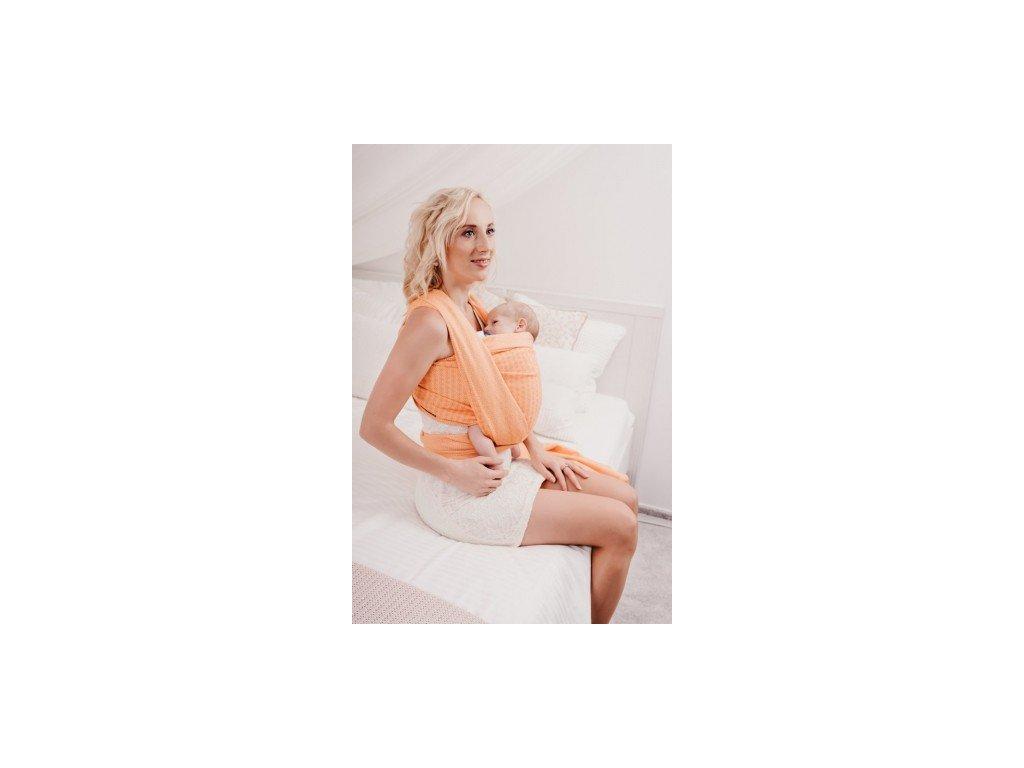 Šátek ŠaNaMi - Crystallis oranžový