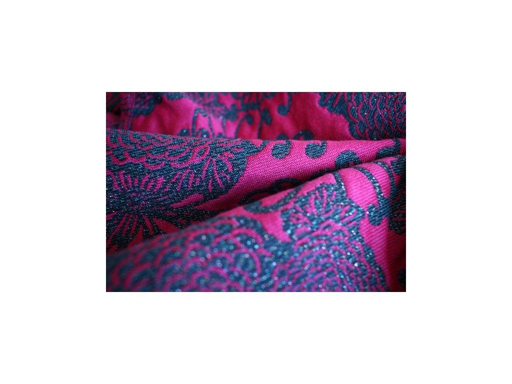 Yaro Chrys Contra Black Pink 1% třpytky a 30% vlna