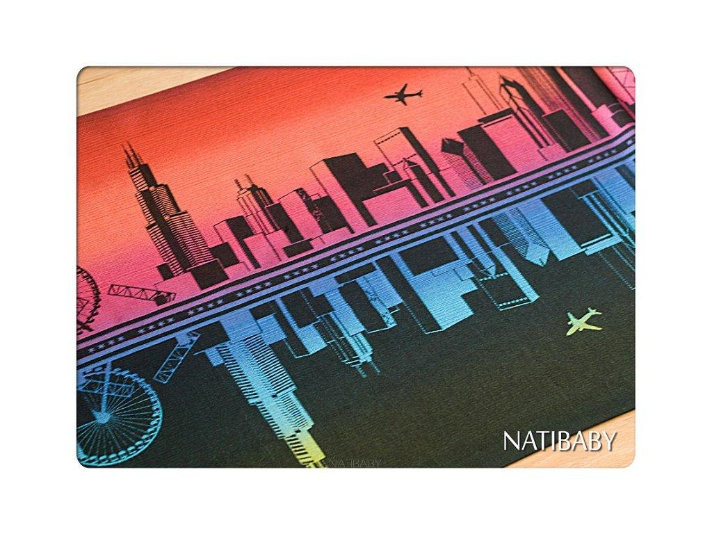 Natibaby Windy City Chicago Rainbow 2 100% bavlna