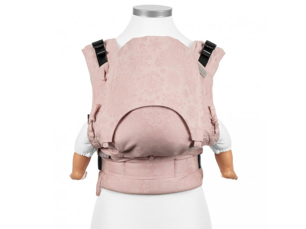 baby size fusion baby carrier with buckles classic iced butterfly pale pink