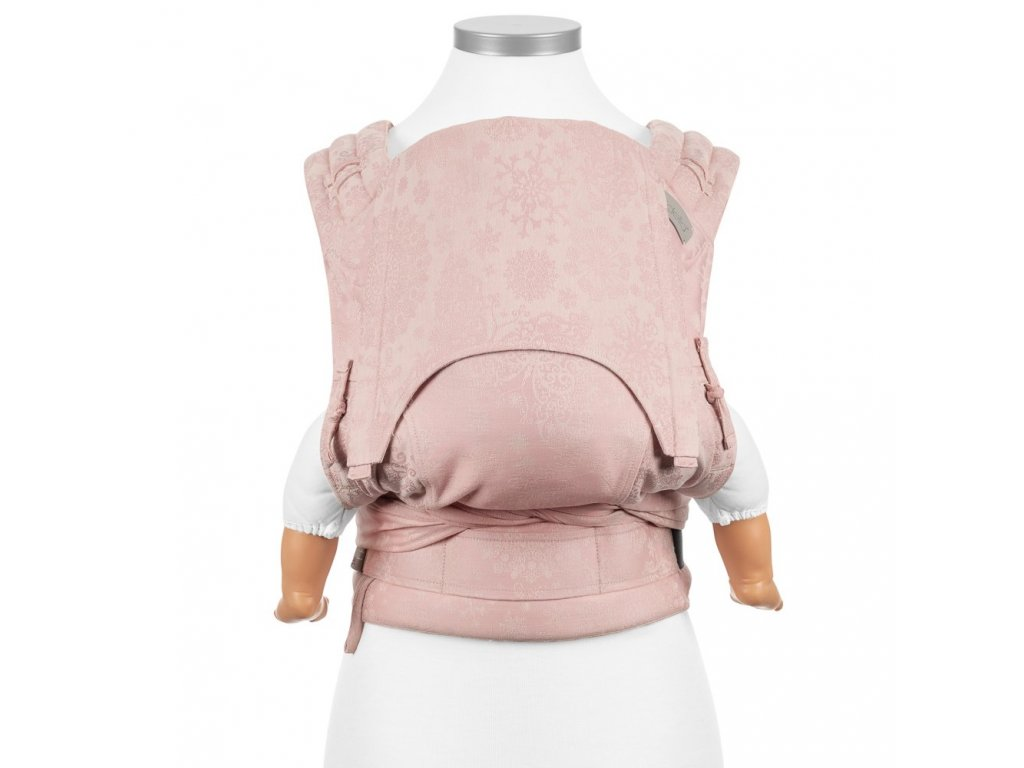 fidella flyclick baby carrier classic iced butterfly pale pink