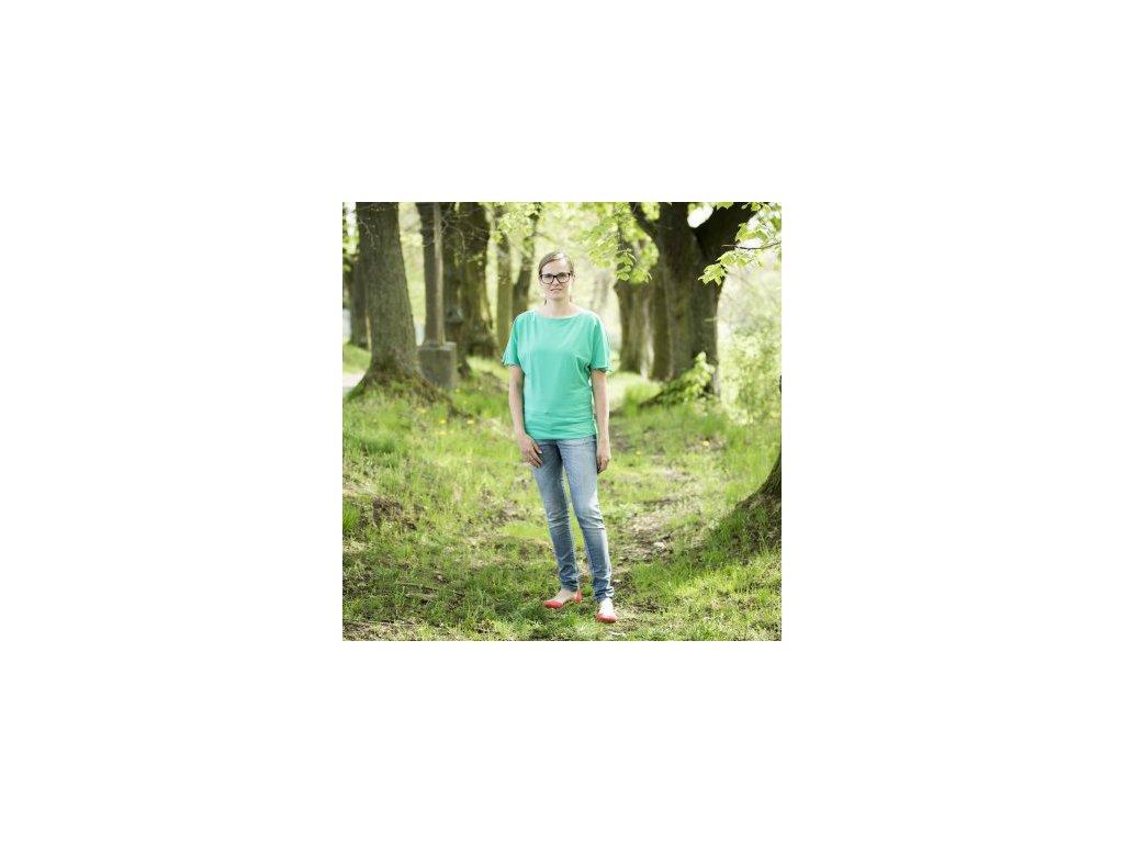 d9b54b0cc760 Angel Wings Dámské tričko smaragd - iSatky.cz