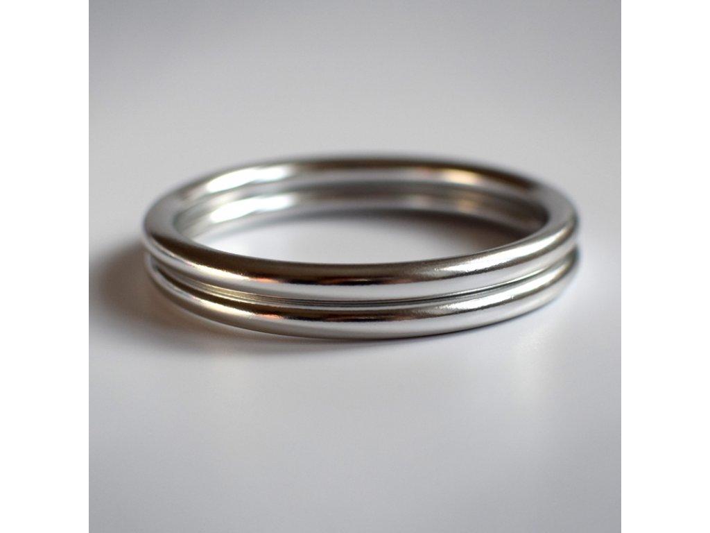 Ring Sling kroužek stříbrný lesk