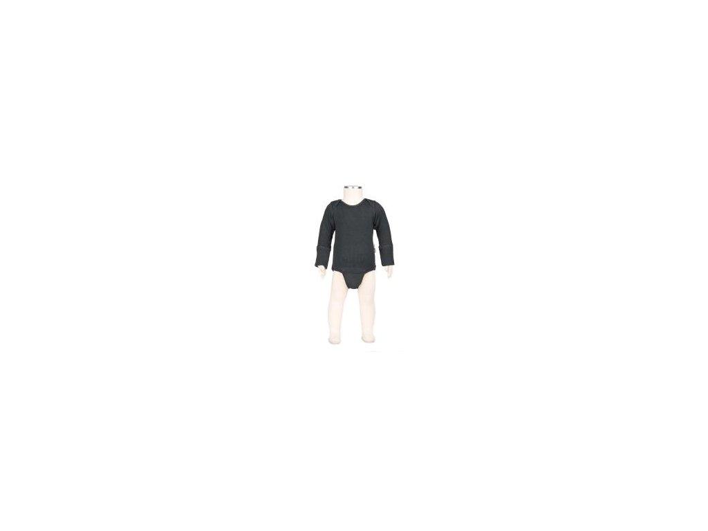 Manymonths body/tričko merino 17 Foggy Black