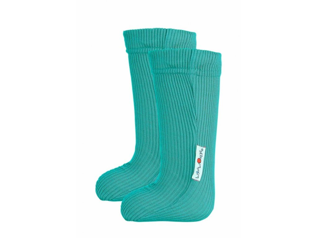 Manymonths ponožky s gumičkou merino 18 Royal Turquoise