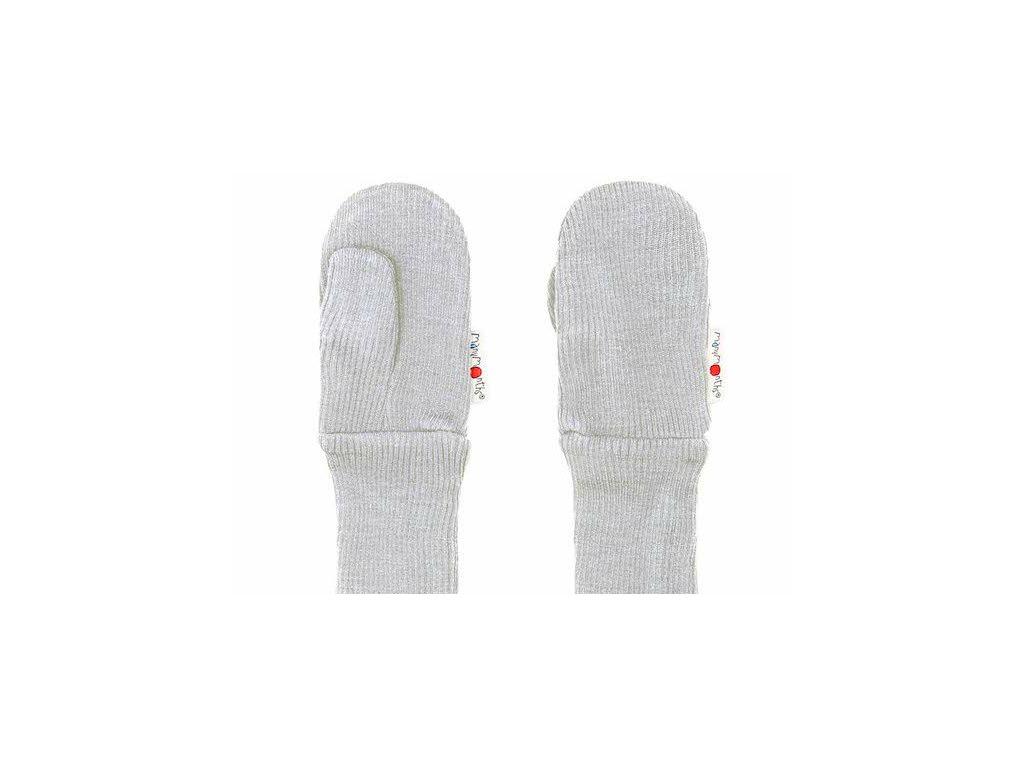 Manymonths rukavice s palcem 18 Bright Silver