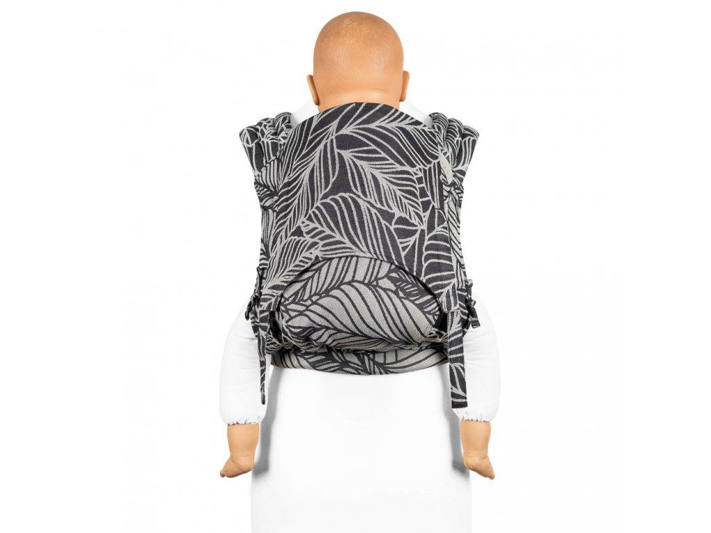 Fidella FlyTai Toddler size Dancing Leaves Black & White