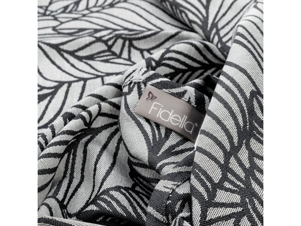 Fidella Dancing Leaves Black & White