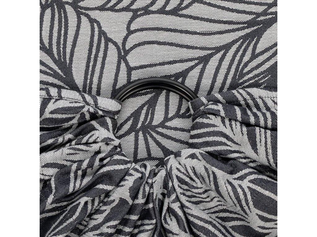 Fidella ring sling Dancing Leaves Black & White