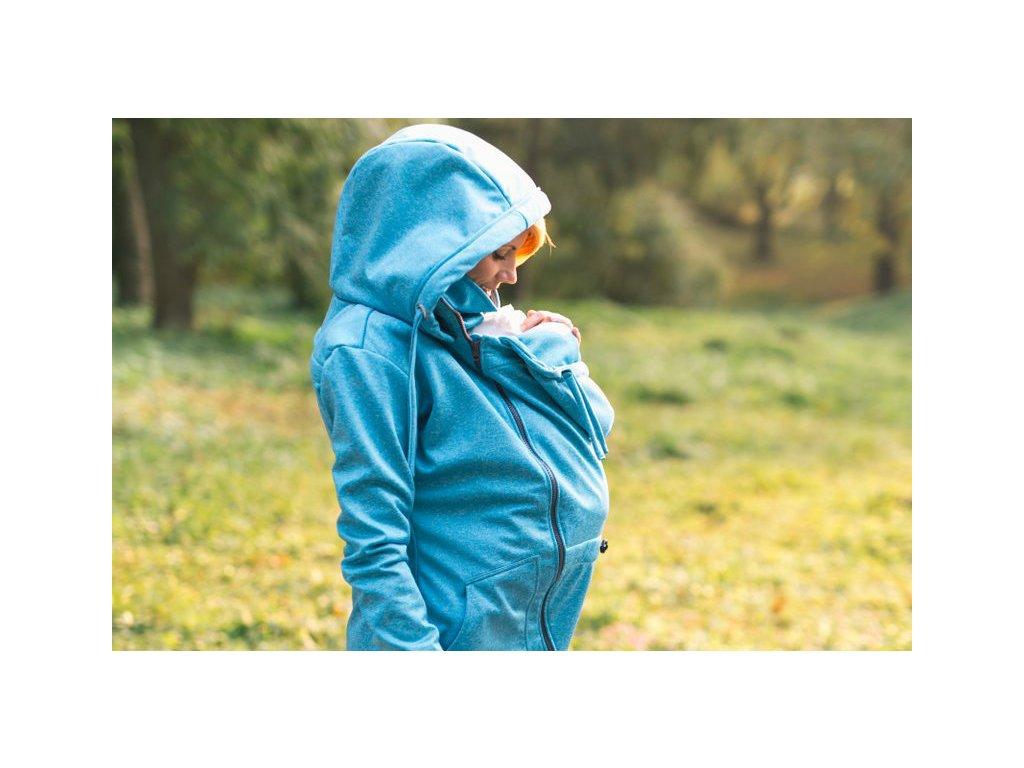 Lenka Softshellová bunda 3 v 1 Tyrkys