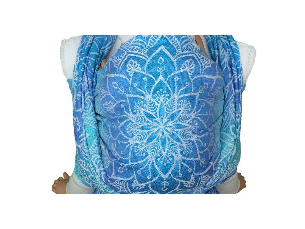 Lenka šátek Mandala Modrá