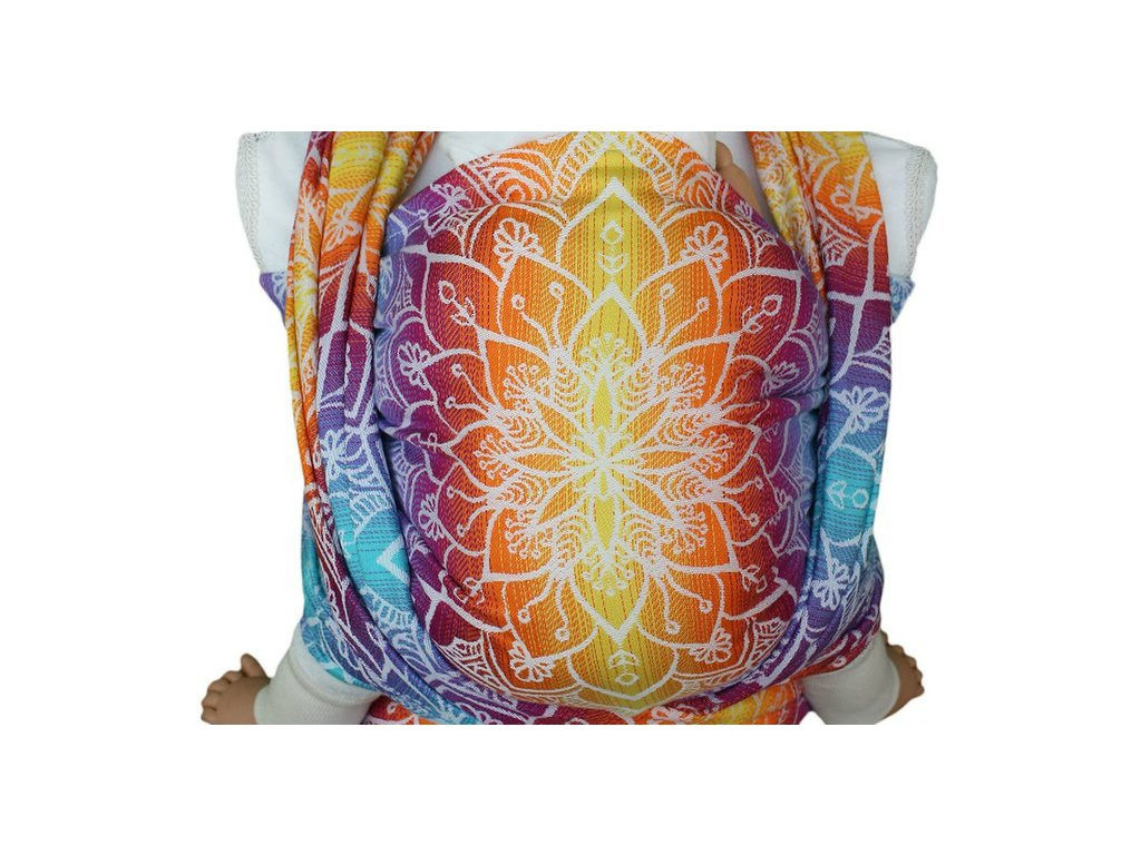 Lenka šátek Mandala Duhová